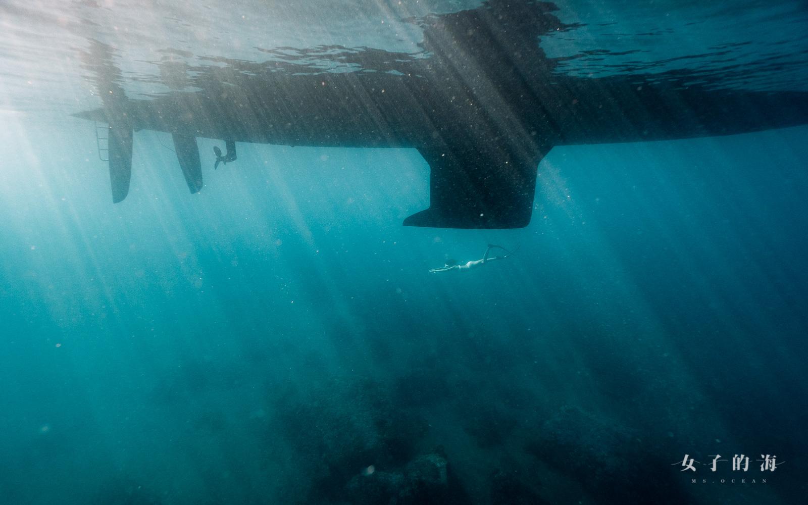 帆船自由潛水